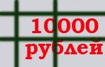 штраф 10000 рублей